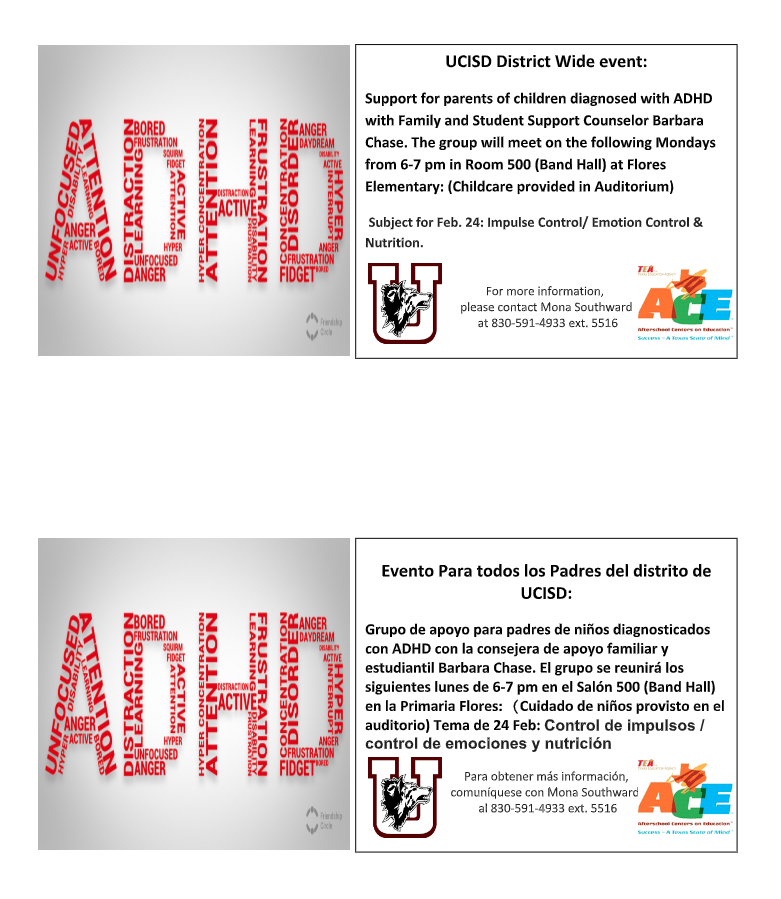 ADHD Parent Informational Meetings