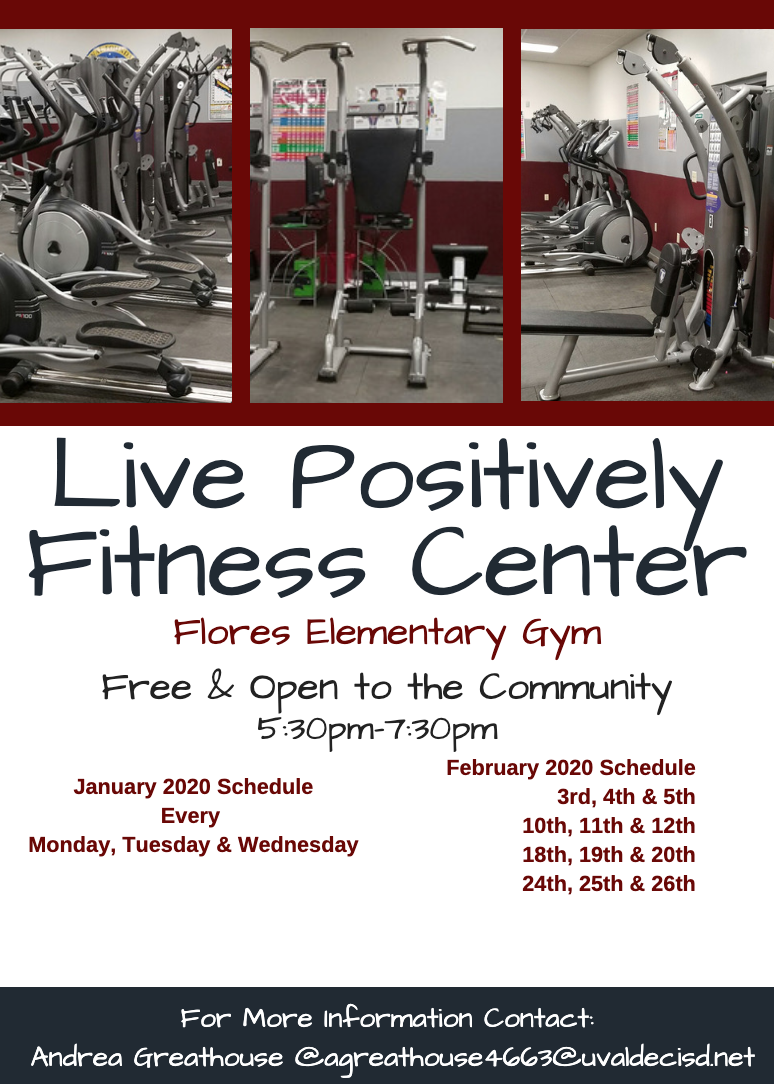 Live Positively Fitness Center...Free & Open to the Community!