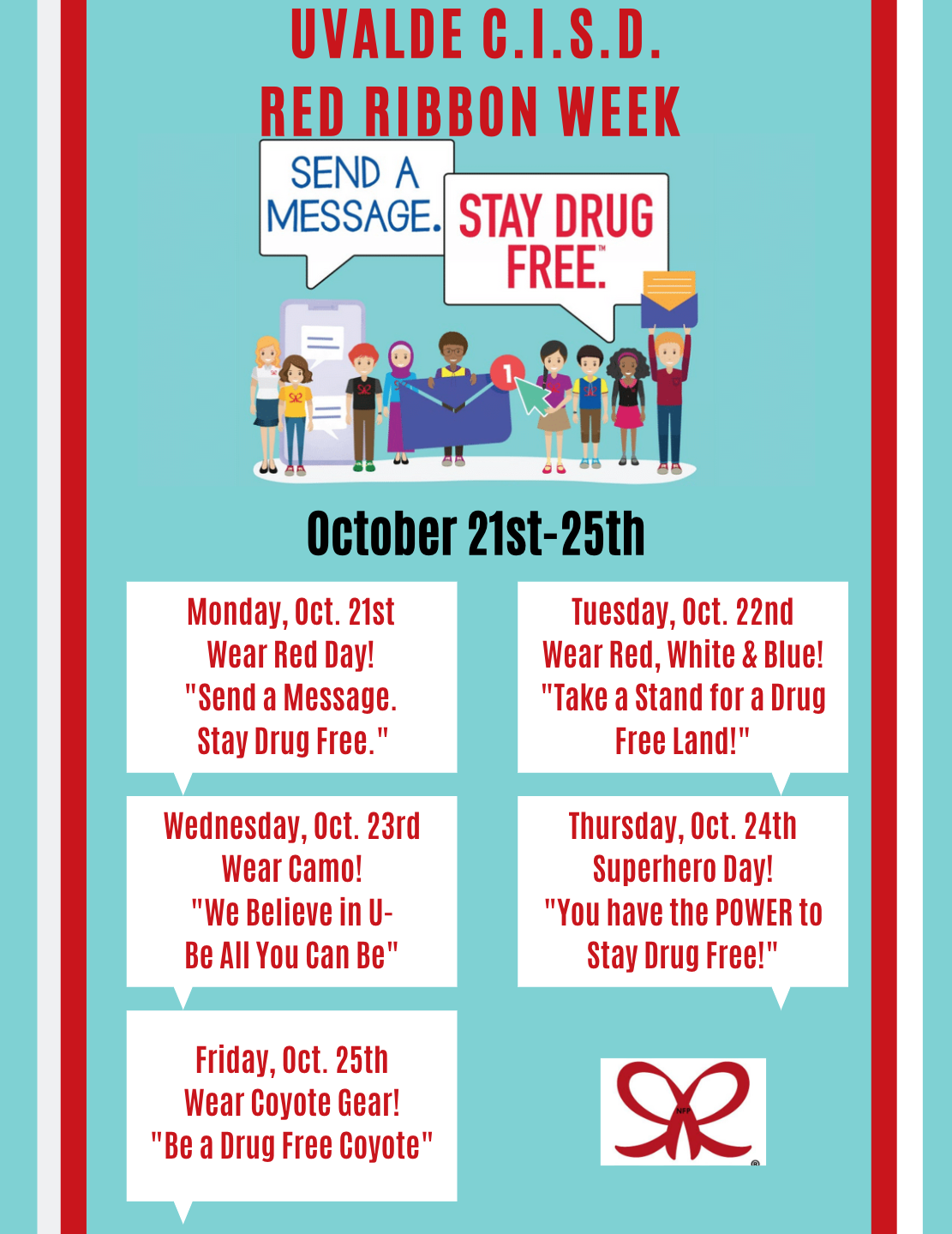 UCISD Red Ribbon Week Schedule