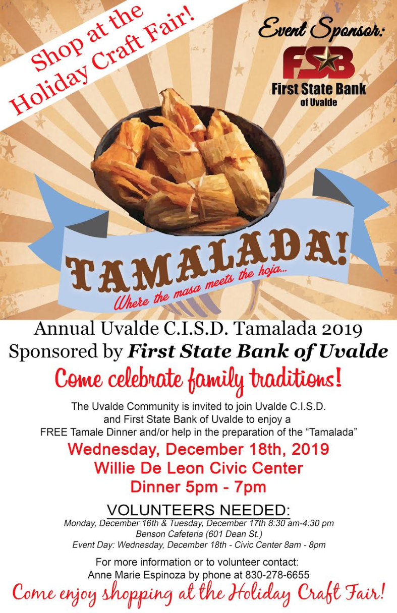 Annual Tamalada...December 18th!