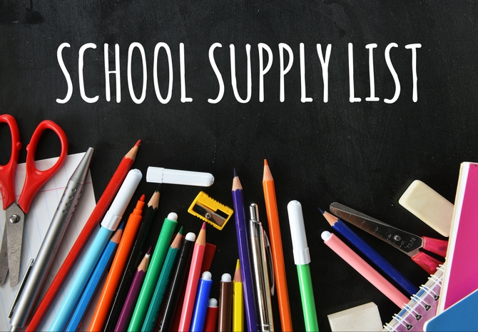 2019-2020 School Supply List
