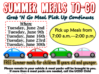 Free Healthy Summer Meals Beginning June 2nd!