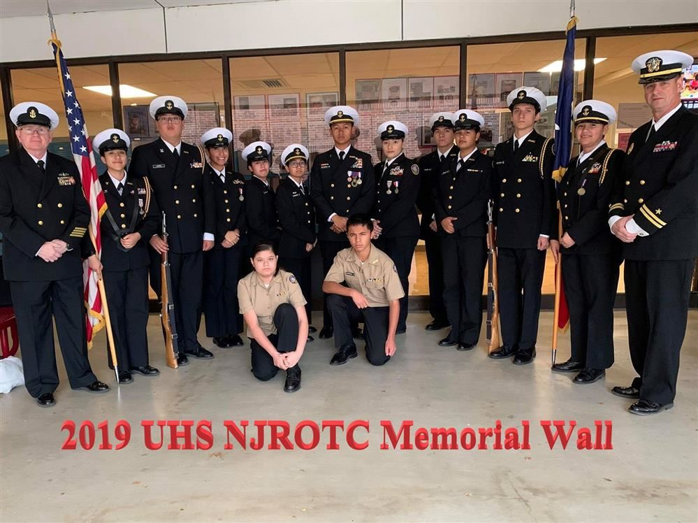 NJROTC Creates Memorial Wall...
