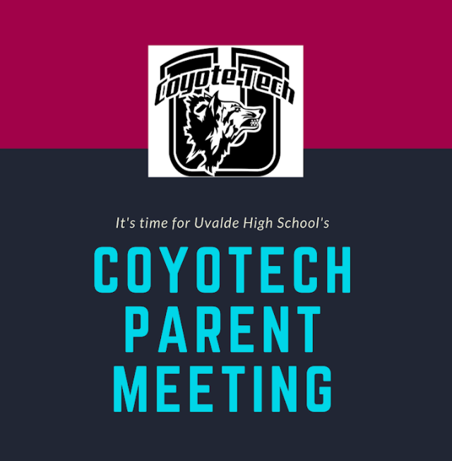 Coyotech Virtual Parent Meeting...Wednesday, September 23 at 4:45pm-5:30pm