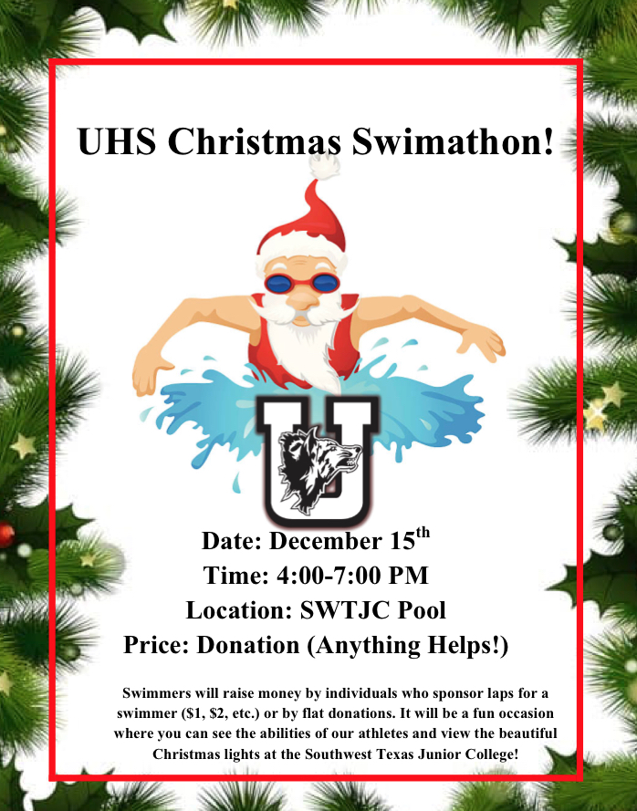 UHS Christmas Swimathon...December 15th!