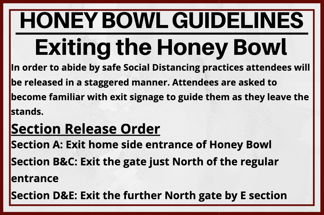 exiting the honey bowl