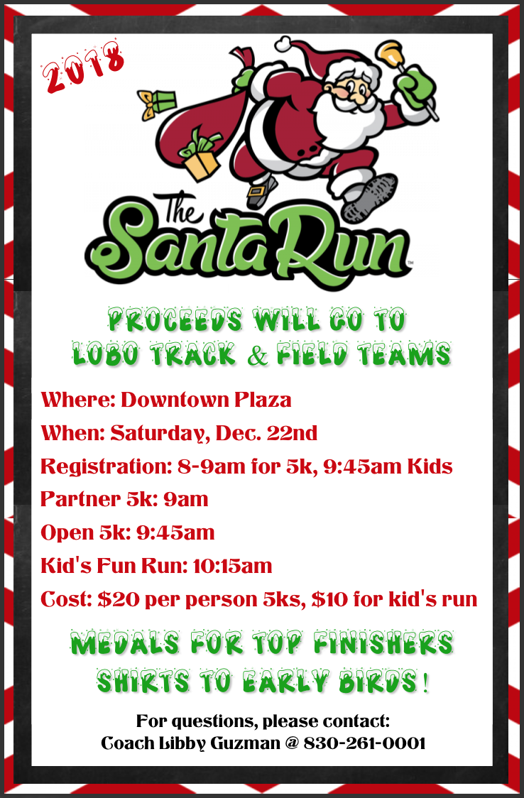 Santa Run...Dec. 22nd!
