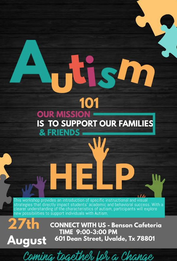 Autism 101 Meeting...August 27th!