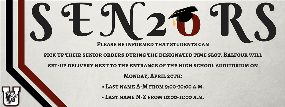 Attention Seniors: Cap & Gown Pick-Up Instructions...