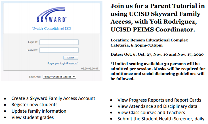 UCISD Skyward Family Access Parent Tutorials...