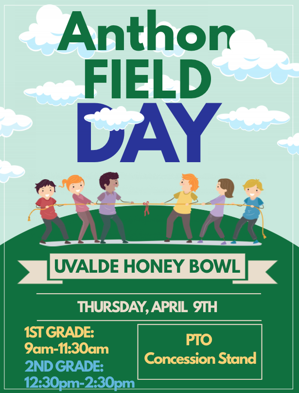 Anthon Field Day...April 9th!
