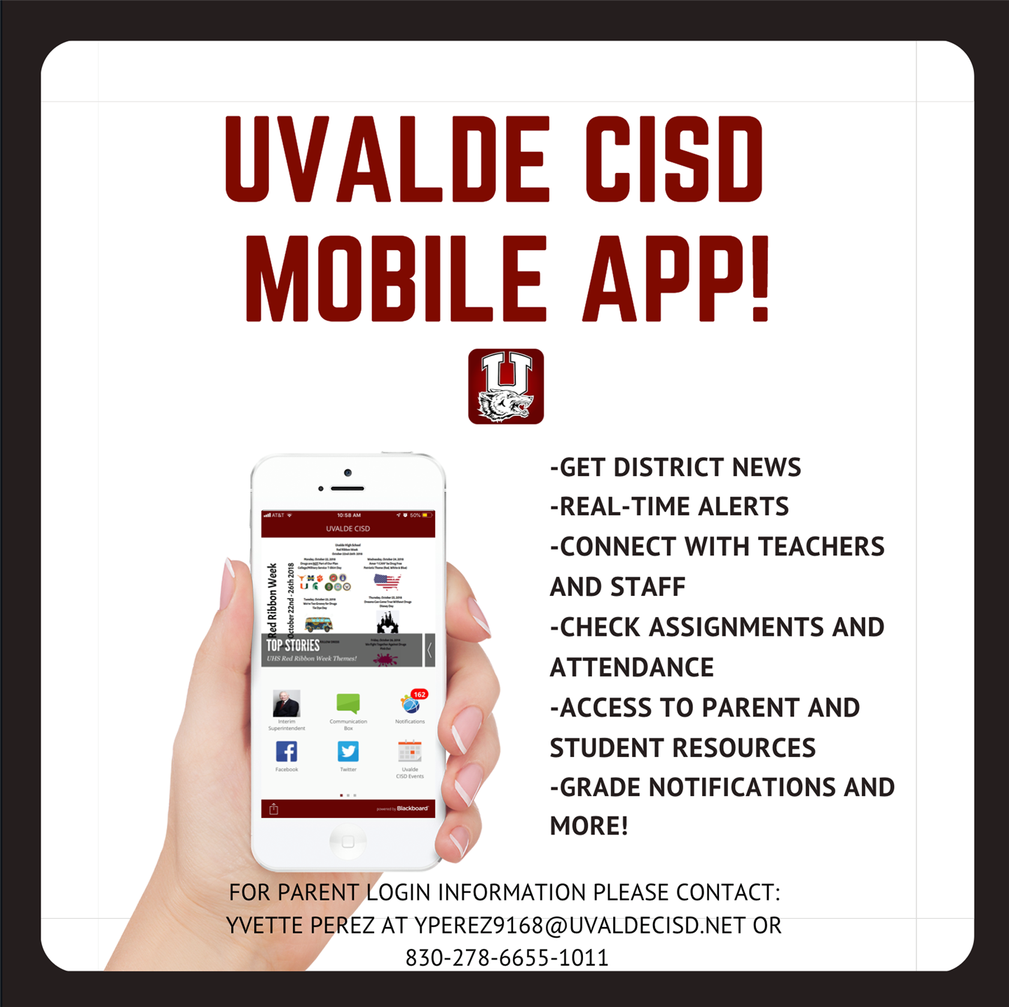 UCISD APP Login Information