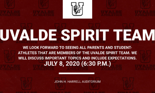 UHS Spirit Team Meeting, July 8th @ 6:30pm