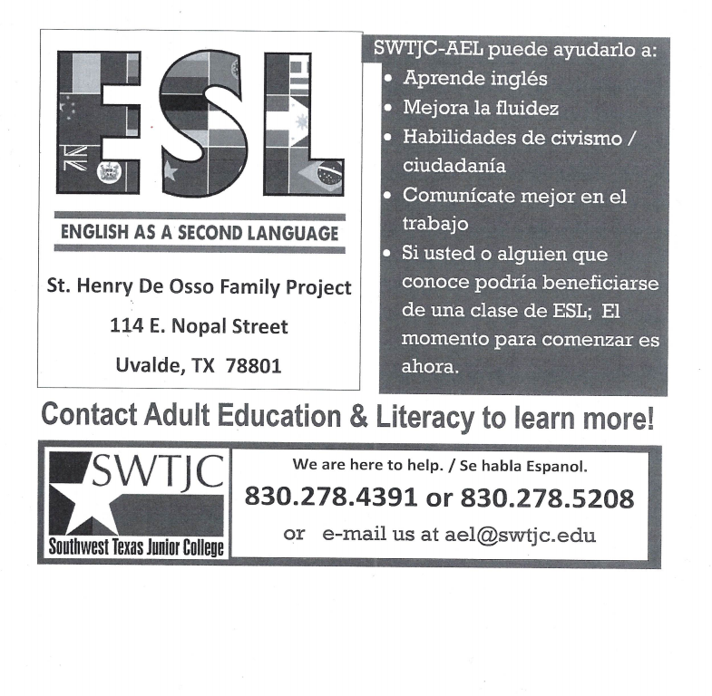 SWTJC ESL/AEL Classes